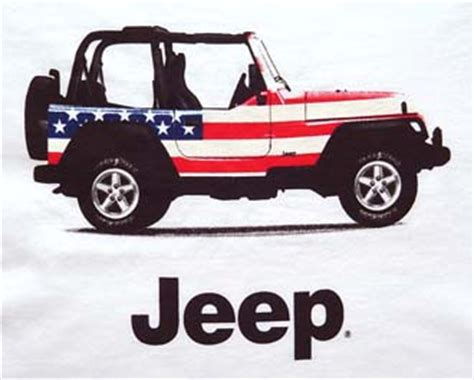 Jeep Flag All Things Jeep Jeep Flag T Shirt Featuring A White