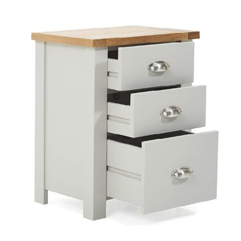 tall bedside cabinets platina wooden tall bedside cabinet in oak and grey 29404