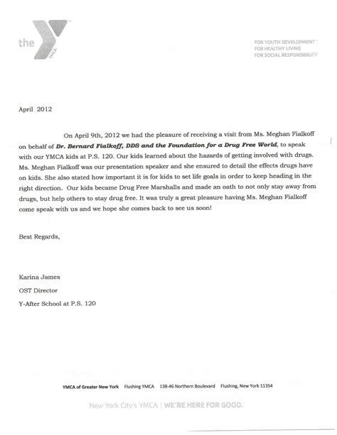 thank you letter office our office s community education program dr bernard