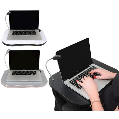 lighted laptop desk tray supersoft cushioned portable laptop lap desk tray with