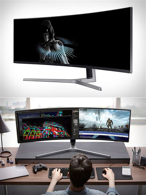 Monitor Gaming Curved samsung qled curved gaming monitor measures 49 quot across