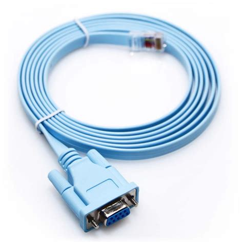 rs232 console cable 6ft rollover console cable db9 to rj45 cisco