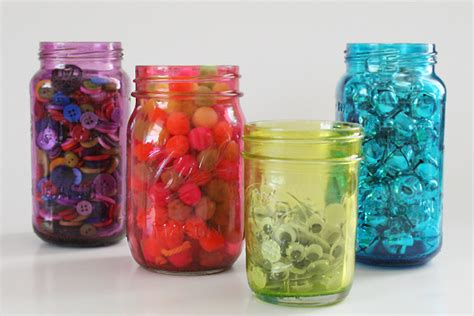 colorful jars bright colorful jars for storage or decor