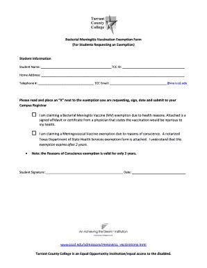Detoxing Meningococcal Vaccine by Sign Language For Healthcare Workers Forms And Templates