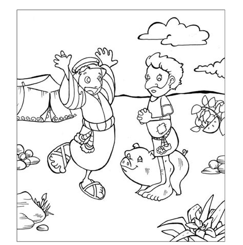 Parable Of The Prodigal Son Coloring Pages The Prodigal Son Prodigal Coloring Page