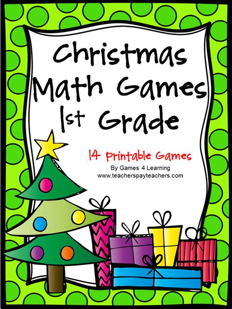 printable math board games for first grade fun games 4 learning christmas math fun