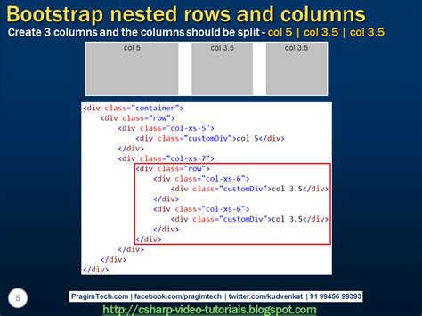 bootstrap tutorial presentation sql server net and c video tutorial bootstrap nested