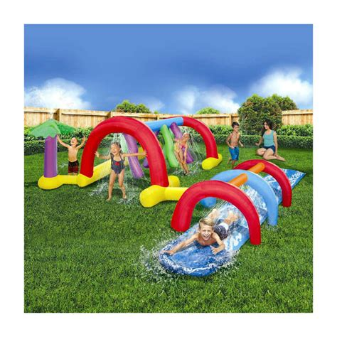 ultimate inflatable backyard water park banzai backyard adventure water park toys games