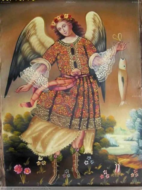 cuadros rafael arcangel san rafael pintura colonial cusque 241 a ilma g a