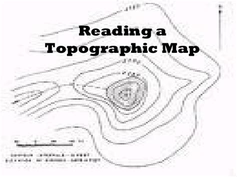 how to read a topographic map reading a topographic map