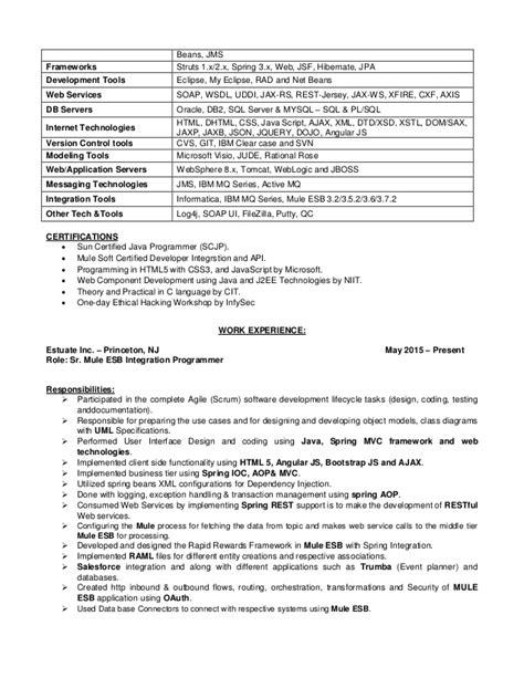 mule esb resume resume ideas