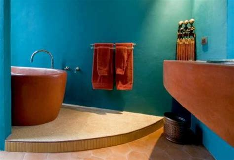 blue and orange bathroom orange color shades and modern interior decorating color