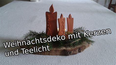 kerzen und teelichter t 246 pfern f 252 r anf 228 nger weihnachtsdekoration mit kerzen und