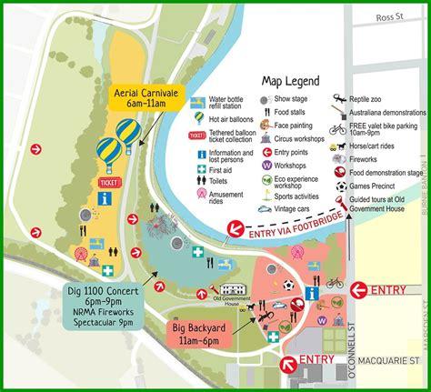 day map australia day 2015 at parramatta park sydney