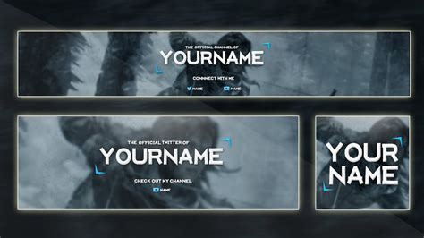 Video Game Banner Template 2015 Custom Colors Psd Youtube Customizable Banner Template
