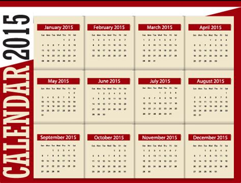 design of calendar 2015 grid calendar 2015 vector design 03 over millions