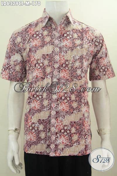 Hem Batik Flores baju hem seragam kerja keren untuk lelaki muda pakaian
