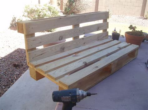 how to make a bench out of wood pallets pallet bench project all