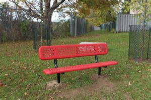 buddy bench at school buddy benches bring friendship to pioneer park ps waterloo region district school board