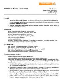 Resume Format For Teachers by Primary High School Resume Primary High School Resume We Provide As Reference