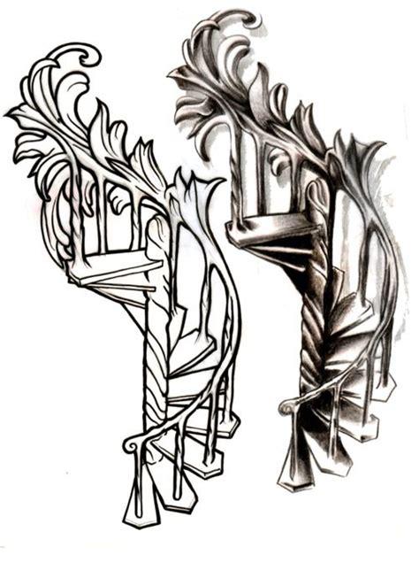 stairway tattoo designs best 25 arm tattoos ideas on ear