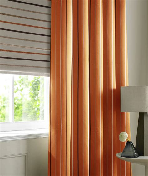 burnt orange striped curtains burnt orange rib stripe made to measure curtains ribstripe