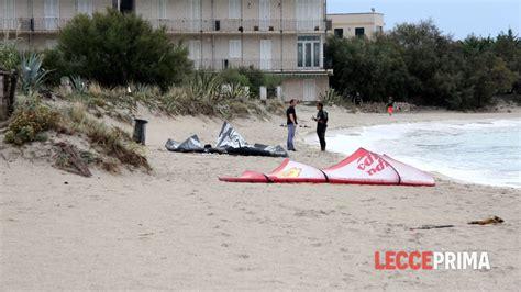 lecceprima cronaca porto cesareo incidente kitesurf porto cesareo