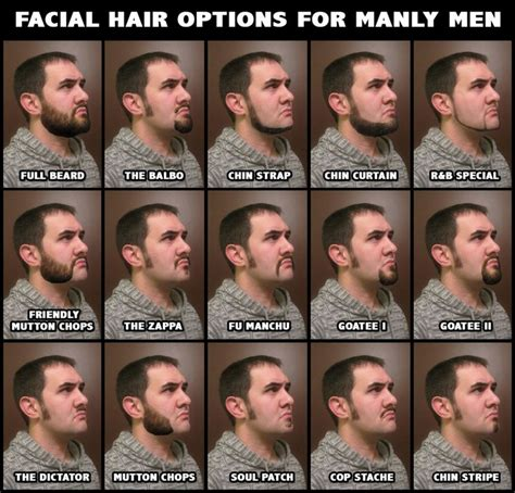 hair for certain face types men different facial hair styles that don t look completely