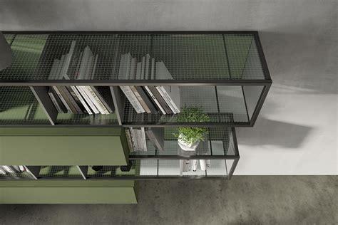 libreria soggiorno moderno soggiorno moderno e librerie di design industrial by fimar