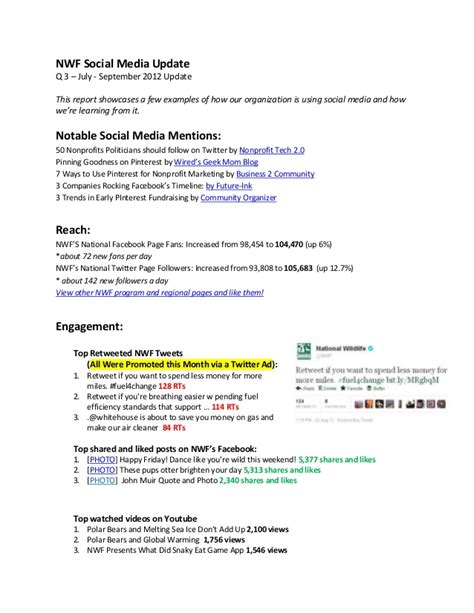Quarterly Social Media Report Media Analysis Report Template