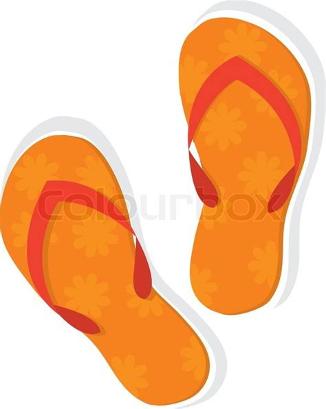 pattern socks clipart orange slippers with floral pattern isolated on white