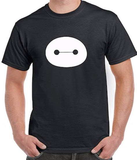 Big Eye Tshirt Black disney big 6 baymax black tees t