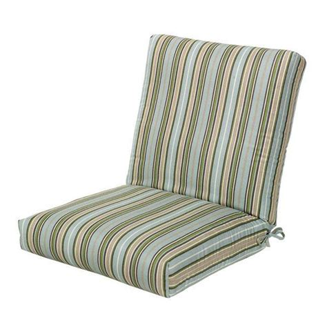 home decorators outdoor cushions home decorators collection sunbrella cilantro stripe outdoor dining chair cushions 1573120620