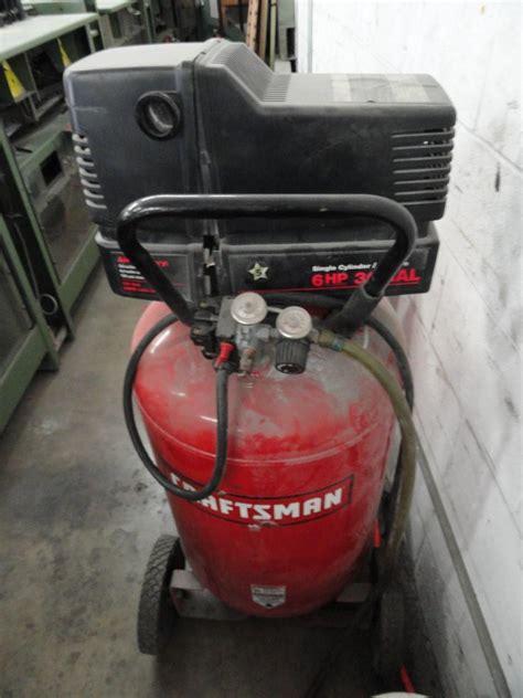 Lot #43: Craftsman 30 Gallon / 6HP Gas / Electric Air Compressor   WireBids