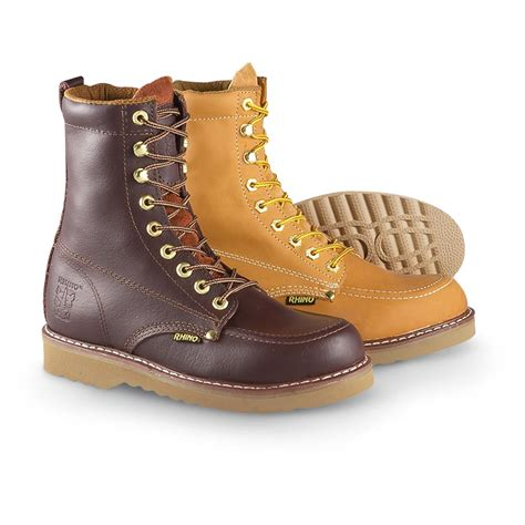 mens moc toe boot s rhino 174 8 quot moc toe work boots 190966 work boots