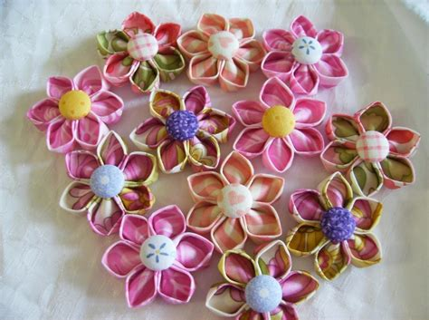 free patterns and instruction on making flower hair clips kanzashi fabric flowers pdf tutorial pattern no 2