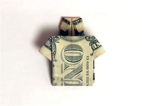 how to make a shirt out of a one dollar bill 8 steps