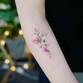 dainty cross tattoos flower cross artist tattooist banul seoul korea