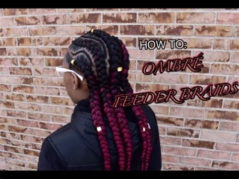 how to: ombre feeder braids | hairbymason youtube