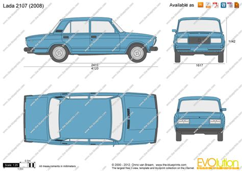 lada dwg lada 2107 vector drawing