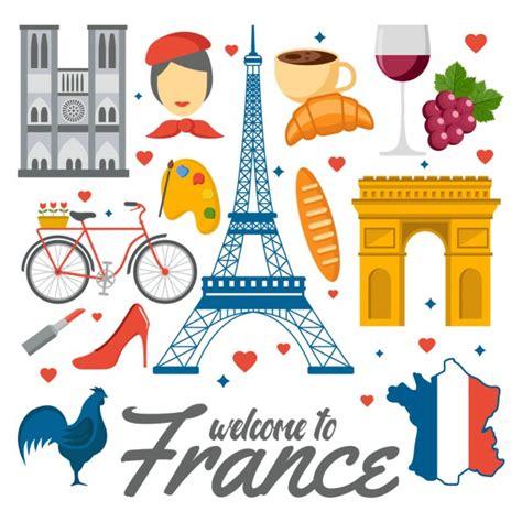 design franc art elementos a color de francia descargar vectores gratis