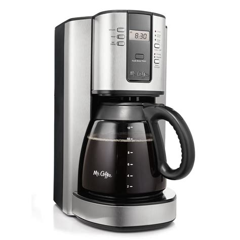 coffee maker stainless mr coffee 174 performance brew 12 cup programmable coffee