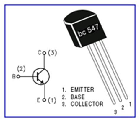 transistor bc547 connection telephone l circuit