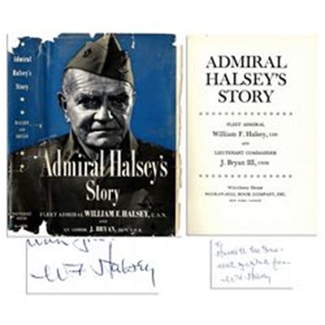 halsey books admiral william halsey signed book