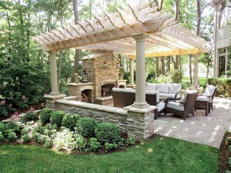 living pergola over  different patio pool design ideas http pinterestcom
