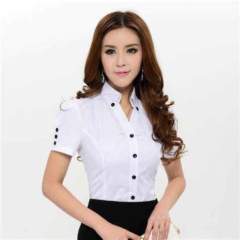 Blouse Lamoda Sw48 new 2014 summer novelty fashion blouses shirts sleeve white blouse work wear shirts