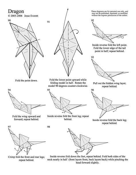 How To Make Origami Dragons - origami in progress