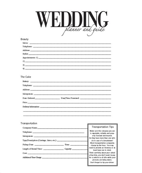 Wedding Planner Contract by Wedding Planner Questionnaire Template Search