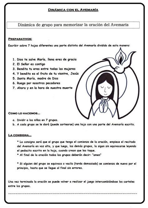actividades para ninos de la virgen maria peques y pecas dinamica para memorizar el ave maria