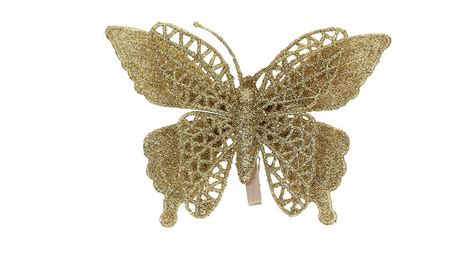 2 48 festive butterfly style christmas tree decoration